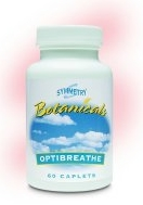 Optibreathe herbal formula by Symmetry respiratory system lungs health BT305