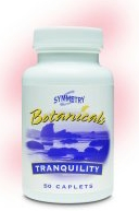 Tranquility herbal product by Symmetry natural health calm sleep stress pain BT304